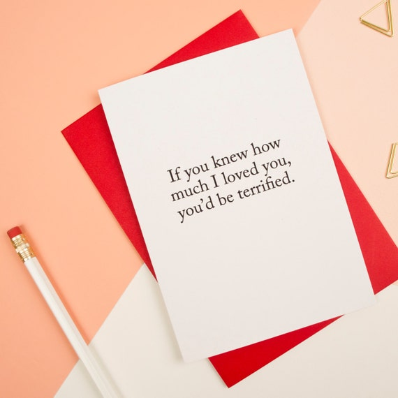Creepy Valentine Card Funny Valentines Day Card I Love You – Valentine Day Card for Husband