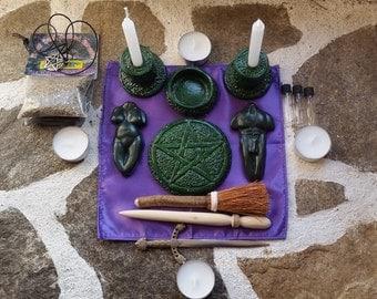 Litha Ritual Pagan altar kit pocket...