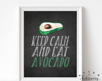 Kitchen Decor Kitchen Wall Decor Kitchen Wall Decoration Avacado Art Print Keep