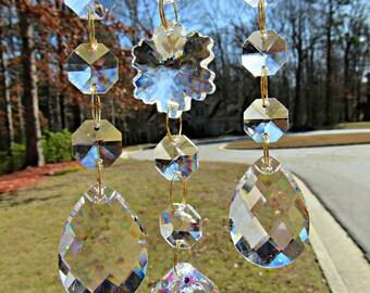 Clear  Crystal Sun Catcher, Crystal Suncatcher, Patio Decor, Window Art, Garden Decor, Gift her Her, 30mm Asfour Crystal Ball  DSC 113