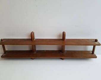 Small Wall Mount Wood Knick Knack Shelf