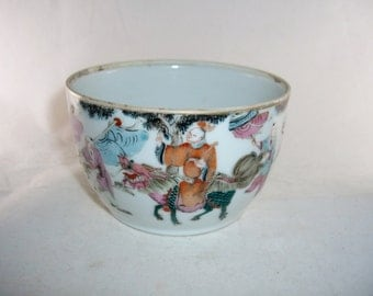 Chinese Porcelain Bowl Procession of Figures Antique