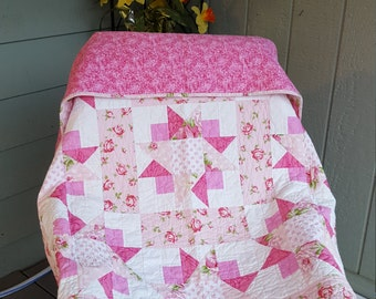 pink quilt for charity donation