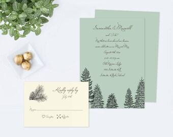Editable Rustic Elopement Invitation, Customizable Text, Elope Invitation, Elope Announcement, Elopement card, Rustic Wedding, Elope Invite