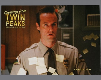 Twin Peaks Gold Box Postcard Card # 37 of 61 Harry Goaz as Andy Brennan