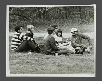 1980s Black & White Hippie Hippy Photograph Vintage Photo 8 x 10