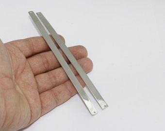 7x150mm Silver Brass Flat Bangle , Cuff for stamping blank , Adjustable bracelet bangle , CHK61-2