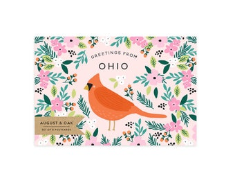 Ohio State Bird Postcard - Set of 8