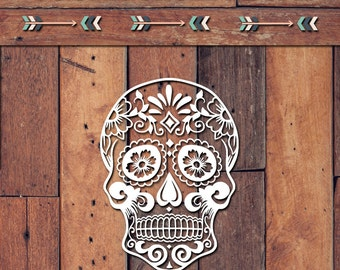 Sugar Skull Decal | Yeti Decal | Yeti Sticker | Tumbler Decal | Car Decal | Vinyl Decal