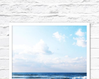 Ocean Wall Art, Ocean Photography, Coastal Art Print, Ocean Water, Beach Printable, Digital Instant Download, Ocean Pic, Beach Print Art