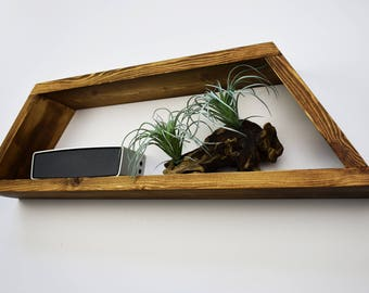 Shelf - Geometric Shelf - Floating Shelf - Wall Shelf - Wood Shelf - Custom Shelf - Mid Century Modern - MCM - MCM Shelving - Home Decor