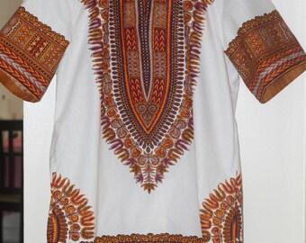 African Men's Dashiki shirt