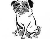 Ink Drawing of Your Pet by Jarrett J. Krosoczka
