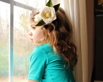Magnolia | Petite Blossom | Felt Flower Headband