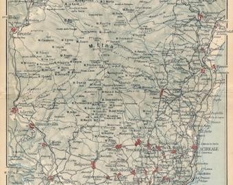 Vintage catania map Etsy