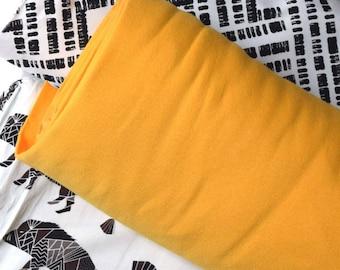 Organic ribbing in yellow, sunny yellow ribbing, ribbing for knits, ribbing for sewing, organic fabric, rib knit, yellow rib knit