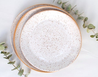 Handmade Ceramic Rustic White Dinner Plate