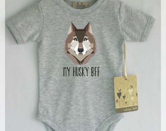 bull terrier baby clothes baby best friend print
