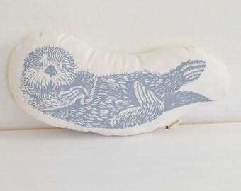 Otter Plush - Otter Pillow - Organic Cotton - Animal Accent Pillow - Sea Otter Throw Pillow - Animal Pillows - Plushie - USA Made Home Decor