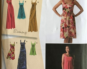 Simplicity 2882 - Sleeveless Evening or Day Dress with Scoop Neck in Three Lengths - Size 6 8 10 12 14 OR 14 16 18 20 22