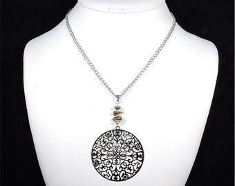 Tiger eye pendant energy stone healing crystal holistic pendant holistic jewel holistic necklace handmade jewelry zen pendant necklace cyl