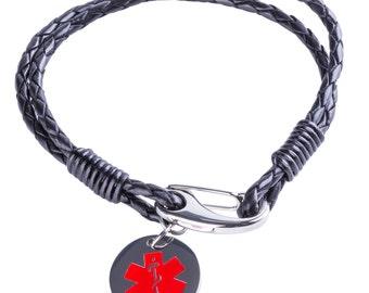 Boy's Medical ID Bracelet - Medical Alert Bracelet - Engraved with any Message.