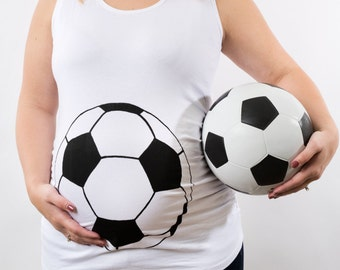 Soccer Maternity Shirt, Funny Maternity, halloween maternity, futbol jersey, Gender Reveal