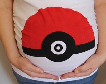 Pokeball Maternity Shirt, Funny Maternity Shirt, Pokemon shirt, Pokemon go shirt, Pokemon Maternity tee, Halloween maternity, Fall maternity