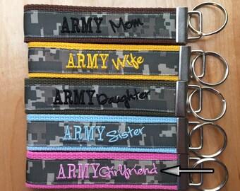 Army Girlfriend Key Fob - Army Girlfriend Keychain - Army Girlfriend Wristlet
