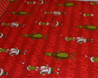 Red Merry Grinchmas Pillowcase