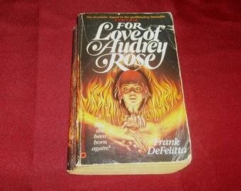AUDREY ROSE Paperback Book  For Love Of Audrey Rose Reincarnation Horror Novel Frank DeFelitta The Exorcist Related 1982