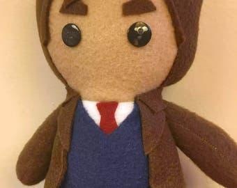 Tenth Doctor Doctor Who Fleece Plush Doll