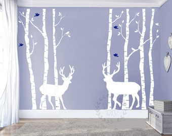 Birch tree wall decal etsy - Stickers pour plafond ...