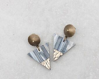 Geometric Earrings Triangle Earrings Simple Everyday Earrings Modern Polymer clay earrings Unique earrings