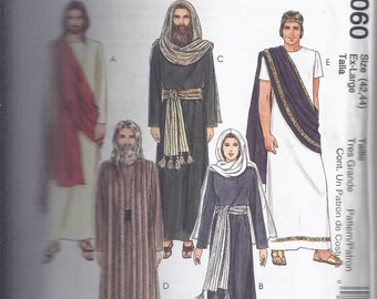 McCall's 2060: Costume Sewing Pattern from 1999.  Passion Play - Jesus, Mary, Apostles, Pilot, Soldier.  Long Tunics.  Chest 42-44