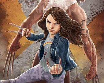 Logan inspired Poster Art | X-23 | digital art | painting | quality giclée print