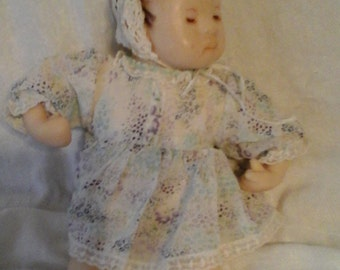 OOAK Vintage Handmade Resin Asian Baby Doll