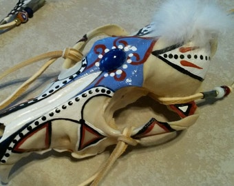 Painted Coyote Skull