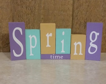 Spring Time Wood Blocks