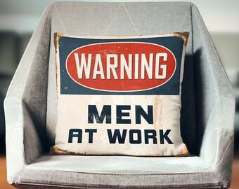 Man Cave Decor | Man Cave Pillow | Man Cave Sign | Man Cave Stuff | Husband Gift | Gift for Husband | Mens Gift | Mens Gift Idea
