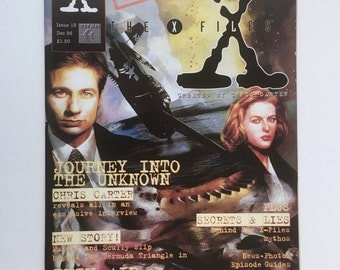 X-Files Magazine, Volume 1, Issue 19, Episode Guide, England, Truth is Out There, Vintage U K Titan Magazine, X-Files Timeline, Mint