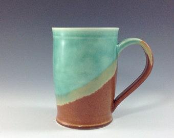 Earth Sand & Sea Ceramic Coffee Mugs - Ceramic Mugs - Large 14oz Ceramic Coffee/Tea Cup - Handmade Pottery Mugs, M52