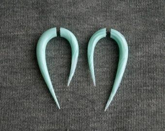 Fake gauge earrings mint color fake plugs fake gauges