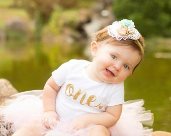Gold one outfit, Glitter One Birthday, First Birthday outfit, First Birthday Girl Outfit, 1st Birthday Girl, One-piece, One Piece Outfit,