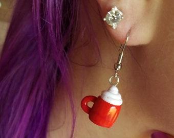 Handmade Coffee Mug Earrings