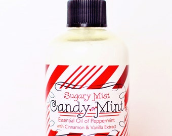 CANDY MINT Air & Body Mist - Peppermint - Almond - Vanilla - Cinnamon - Natural - Spray - Christmas - Gift - Holiday - Winter - New Year