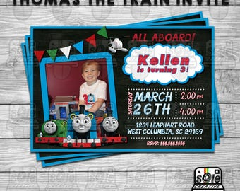 Thomas The Train Birthday Party Invitation! • Available With or Without Photo!