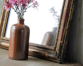 Antique mirror framed in wood and molding plaster - early twentieth - french mirror - frame and mirror.