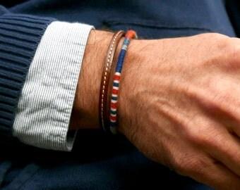 Gift for men, Men. Bracelet for men, Mens gift. Mens bracelet, Mens leather bracelet Men woven bracelet, Mens Valentine gift, Boyfriend gift