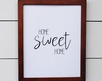 home sweet home. art print. 8x10